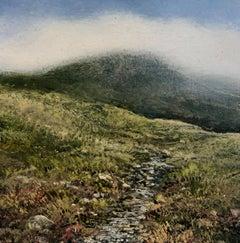 Path original miniature landscape painting Contemporary Impressionism
