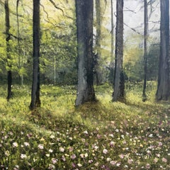 Spring Forest Original miniature landscape painting Contemporary Impressionism
