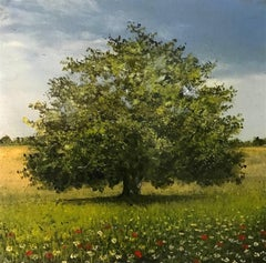 Summer Oak original miniature painting