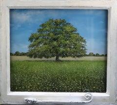 View of the Ancient Oak - original contemporary landscape oil painting