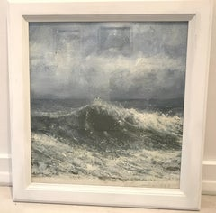 """Wave study"" original contemporary landscape oil painting"