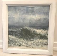 Wave study - original contemporary landscape sea oil painting