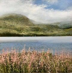 Wild Loch Flowers original miniature landscape painting Contemporary Art
