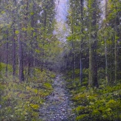 Woods Study - original landscape contemporary 21st century painting