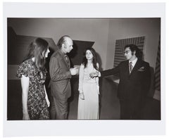 Opening, Frank Stella Exhibition, The Museum of Modern Art, New York, 1970