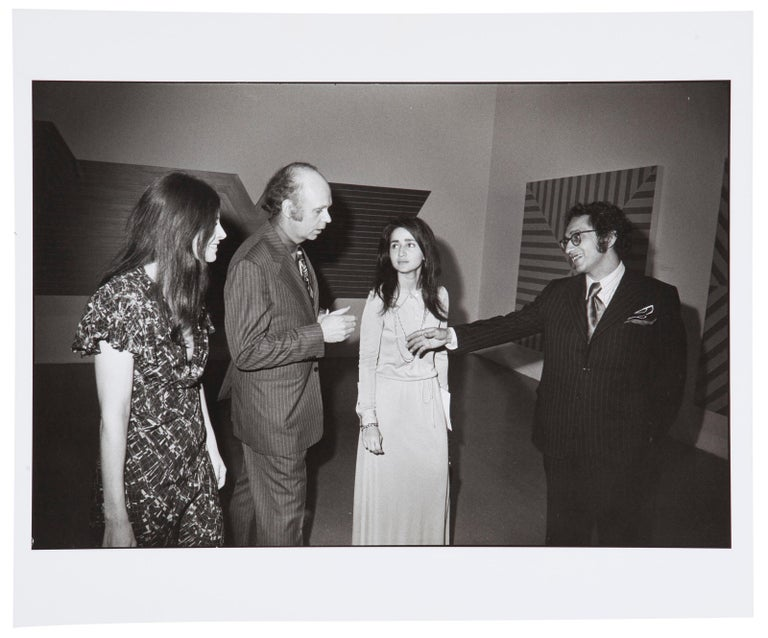 Garry Winogrand Black and White Photograph - Opening, Frank Stella Exhibition, The Museum of Modern Art, New York, 1970