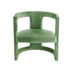 Gary Armchair with Light Green Velvet