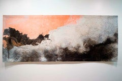 Gary Goldberg, Finding the Universe in Oaxaca, Peach Wave, felted wall tapestry