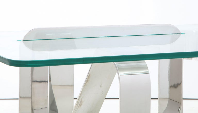 Gary Gutterman Sculptural Cocktail Table in Steel and Glass For Sale 5