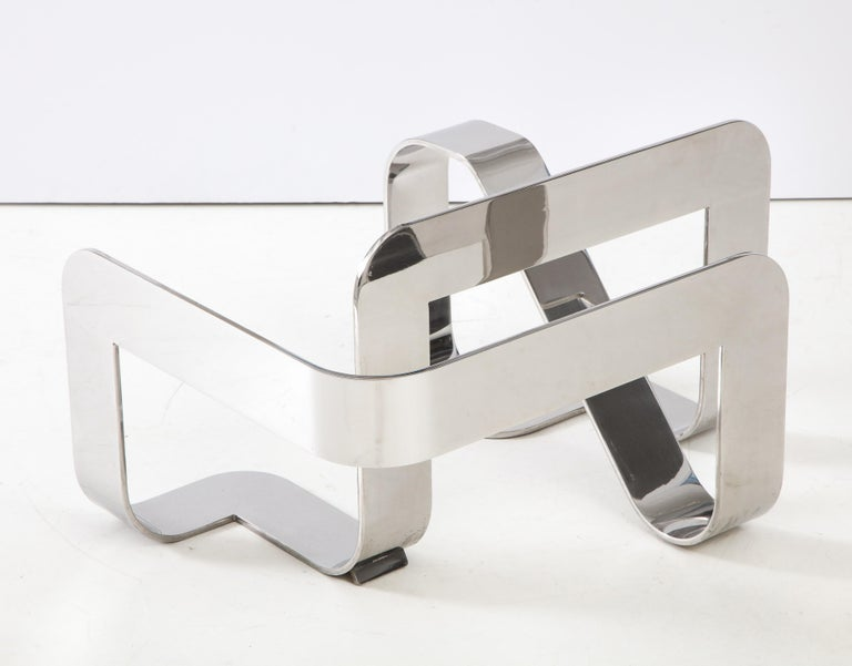 Gary Gutterman Sculptural Cocktail Table in Steel and Glass For Sale 1