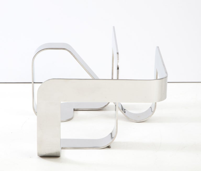 Gary Gutterman Sculptural Cocktail Table in Steel and Glass For Sale 3