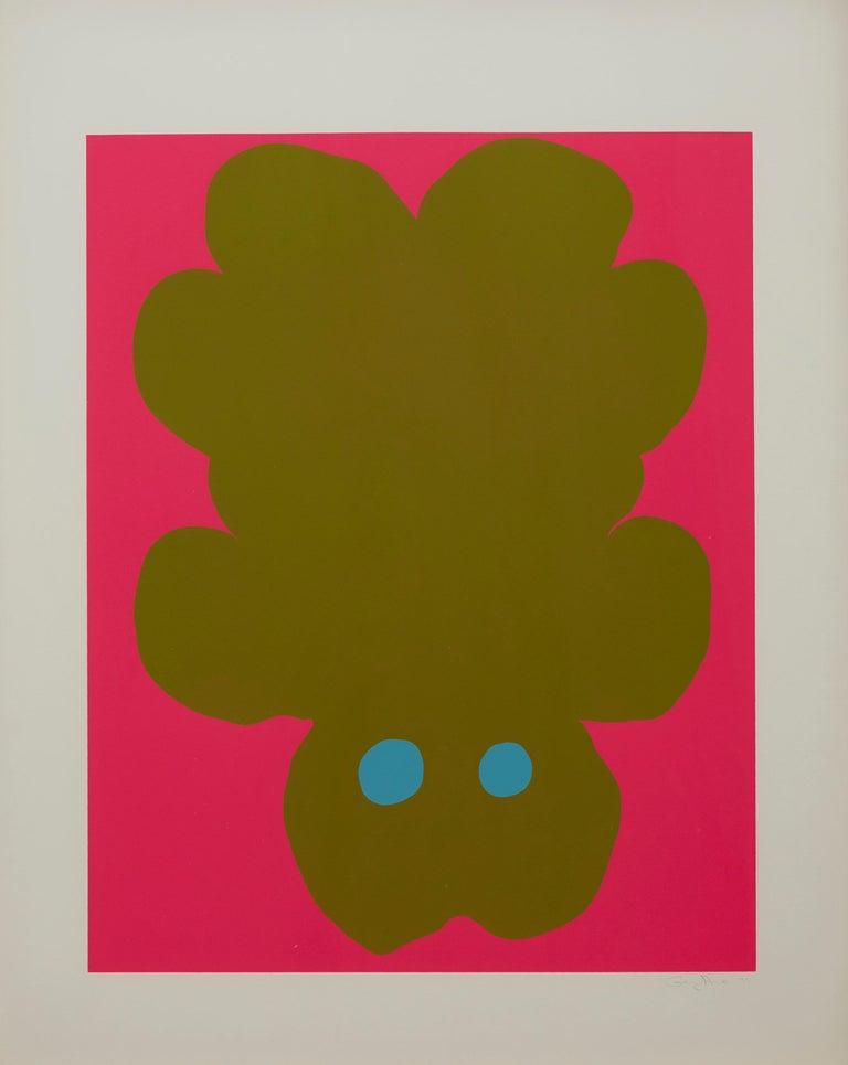 Gary Hume Animal Print - Falling Bear