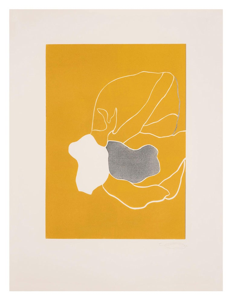 Here's Flowers - Beige Abstract Drawing by Gary Hume
