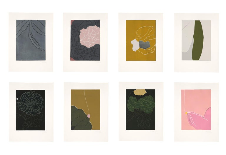 Gary Hume Landscape Print - Here's Flowers
