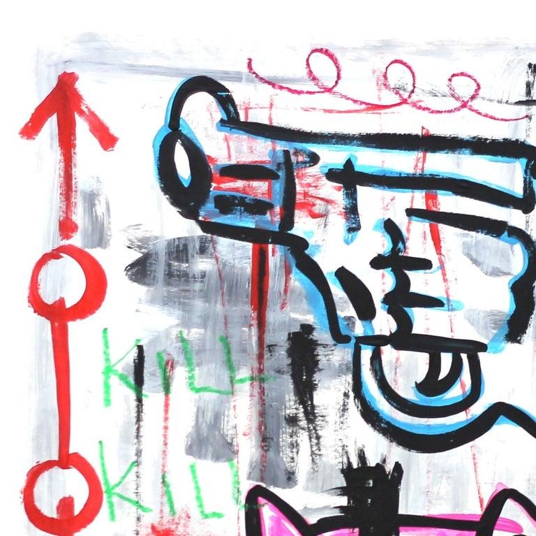 Hell Kitty - Painting by Gary John