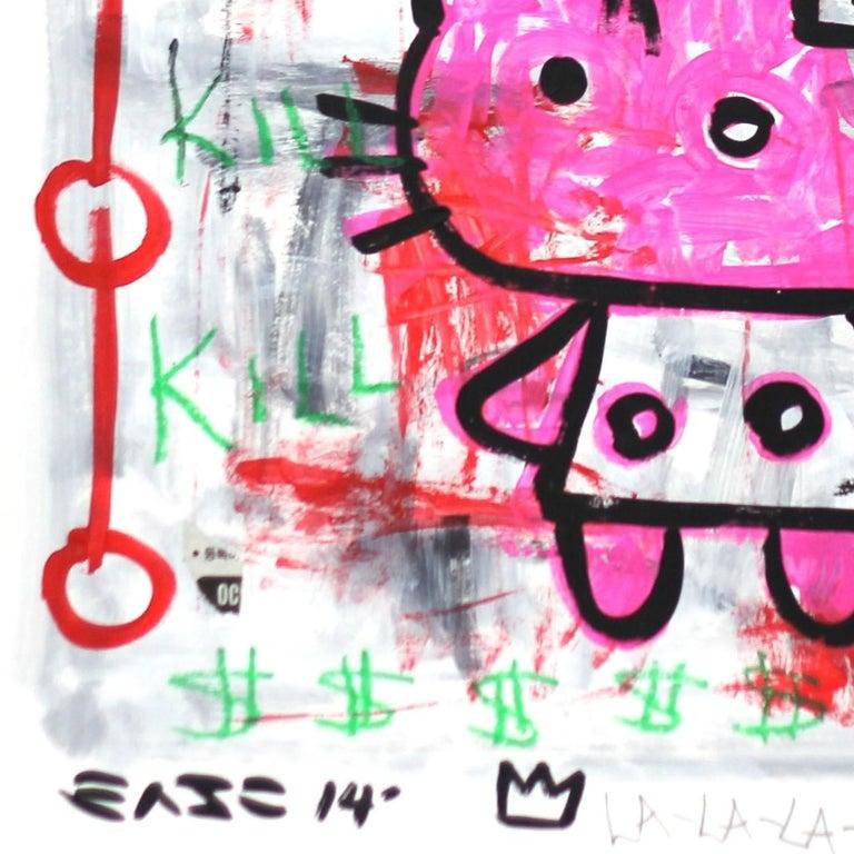 Hell Kitty - Street Art Painting by Gary John