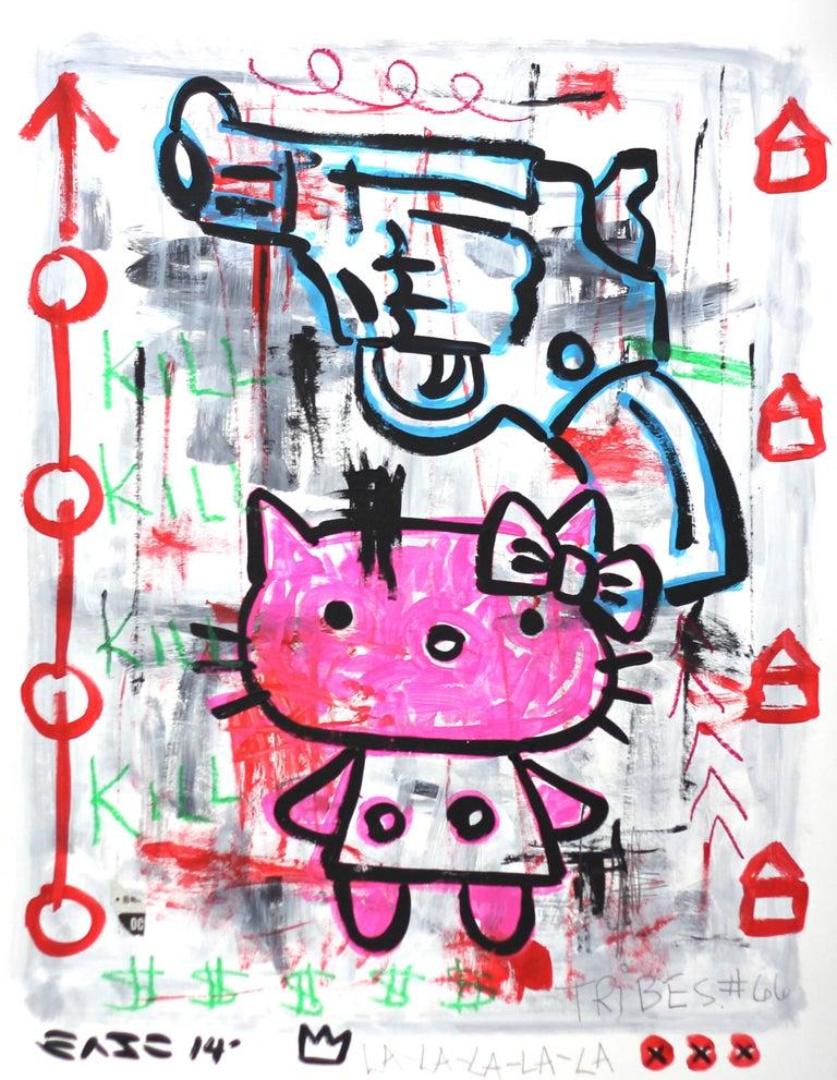 Gary John Figurative Painting - Hell Kitty