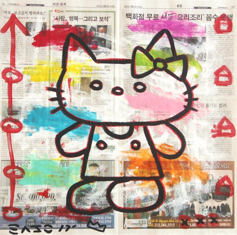 Hello Kitten - Mixed Media Art by Gary John