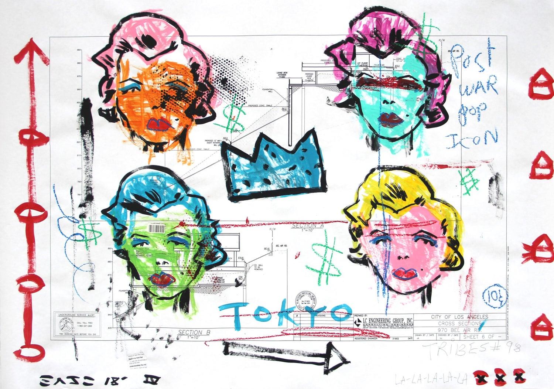 Tokyo Marilyn - Original Gary John Street Art Painting