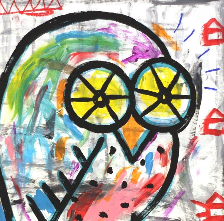 Tribes Owl - Street Art Mixed Media Art by Gary John