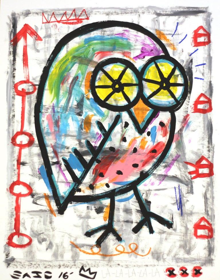 Tribes Owl - Mixed Media Art by Gary John