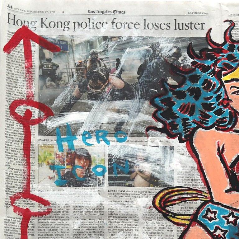 Wonder Woman Super Force - Street Art Mixed Media Art by Gary John