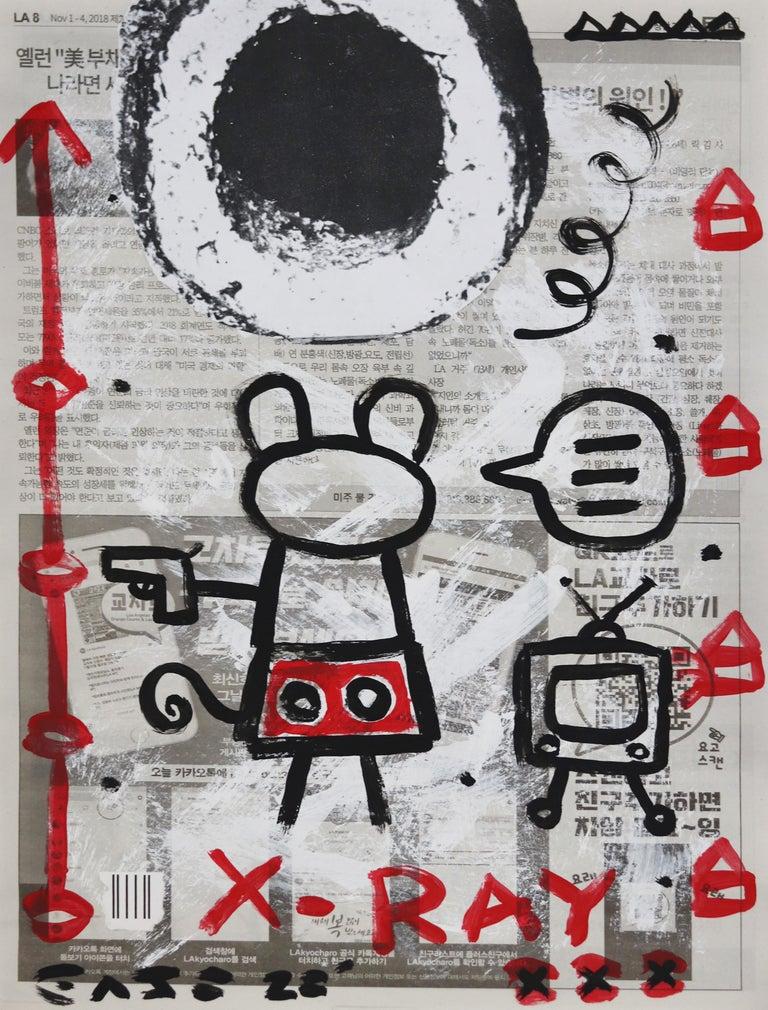 X-Ray Or Else - Mixed Media Art by Gary John