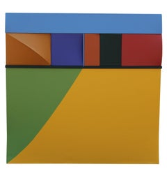 """Daybreak"" Colorful Dimensional Wall Sculpture"