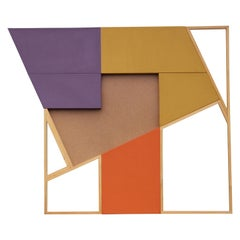 Intersection - Orange. Purple and Yellow Geometric Abstract Painting