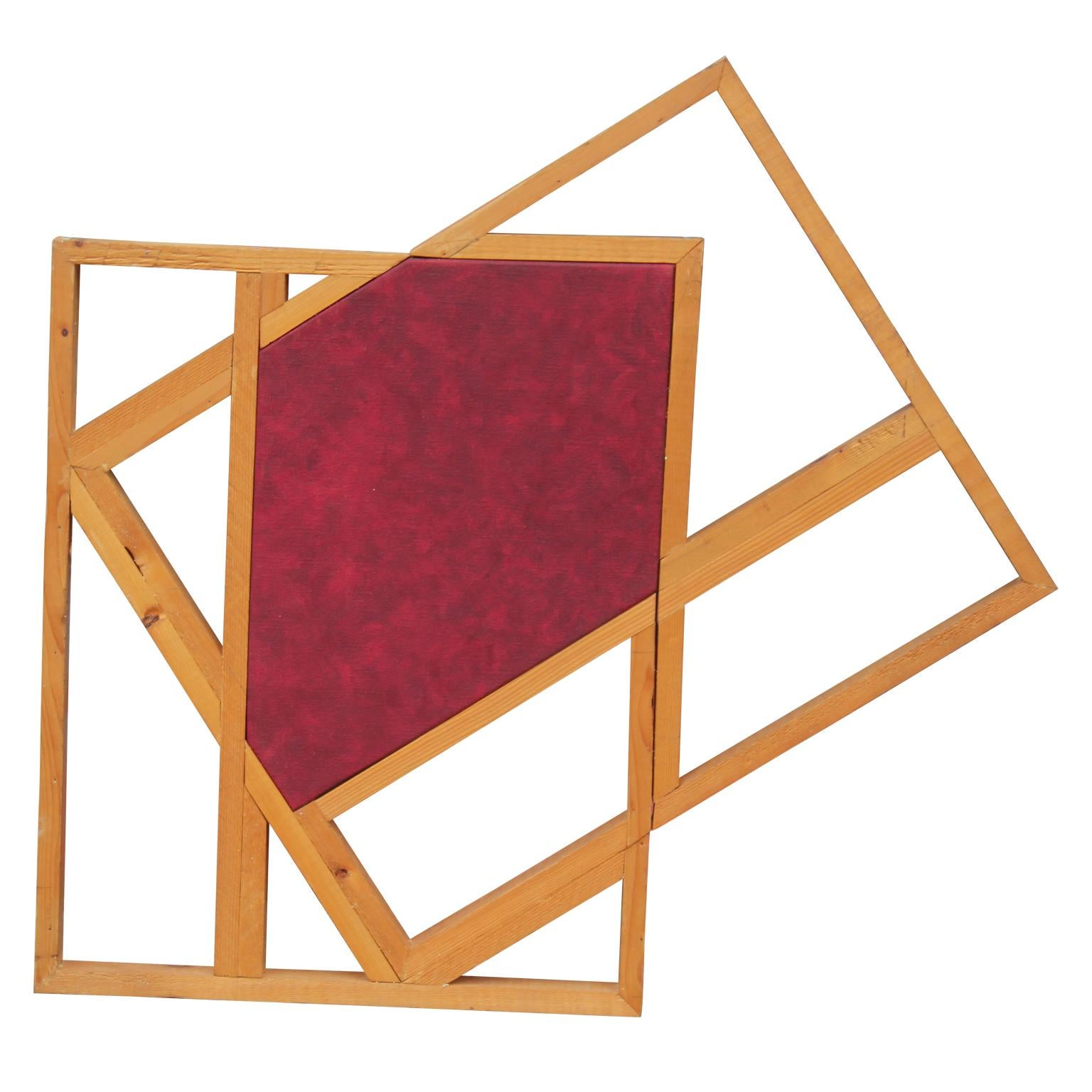 Marker - Red Geometric Abstract Painting