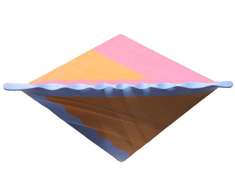 "Gary Jurysta Abstract Painting - ""Ripple Corner"" Corner Wall Sculpture"