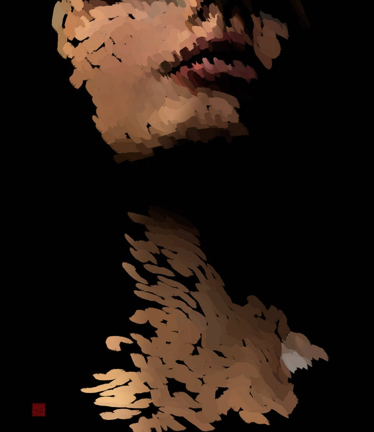 As I Live and Breathe, digital painting of abstract female head - Art by Gary Kaleda