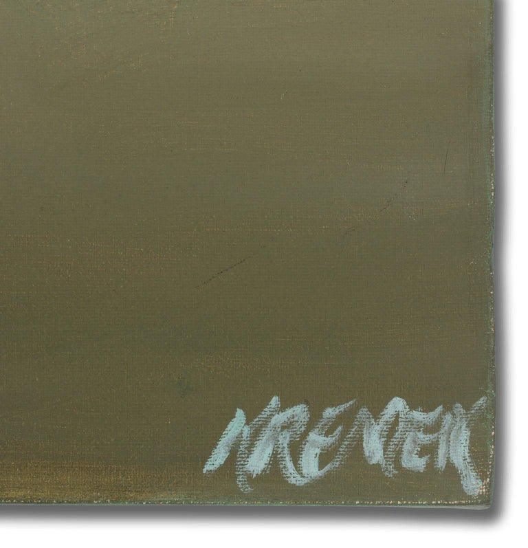 Large 5-Foot Landscape Oil Painting on Canvas by Gary Kremen, Frameless Display For Sale 4