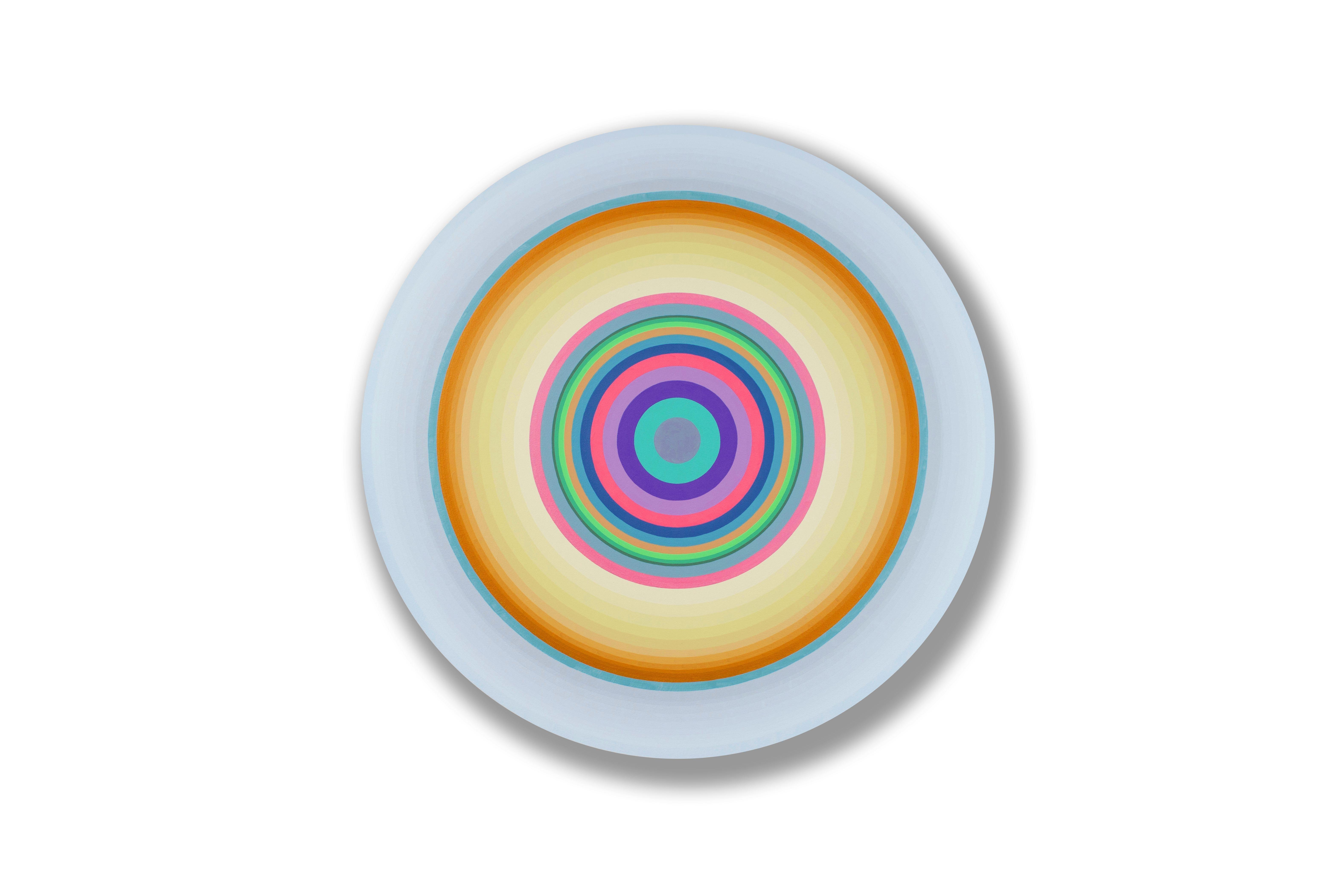 Gary Lang, BLUELIGHTFIFTEEN, 2016, acrylic on canvas, geometric abstraction