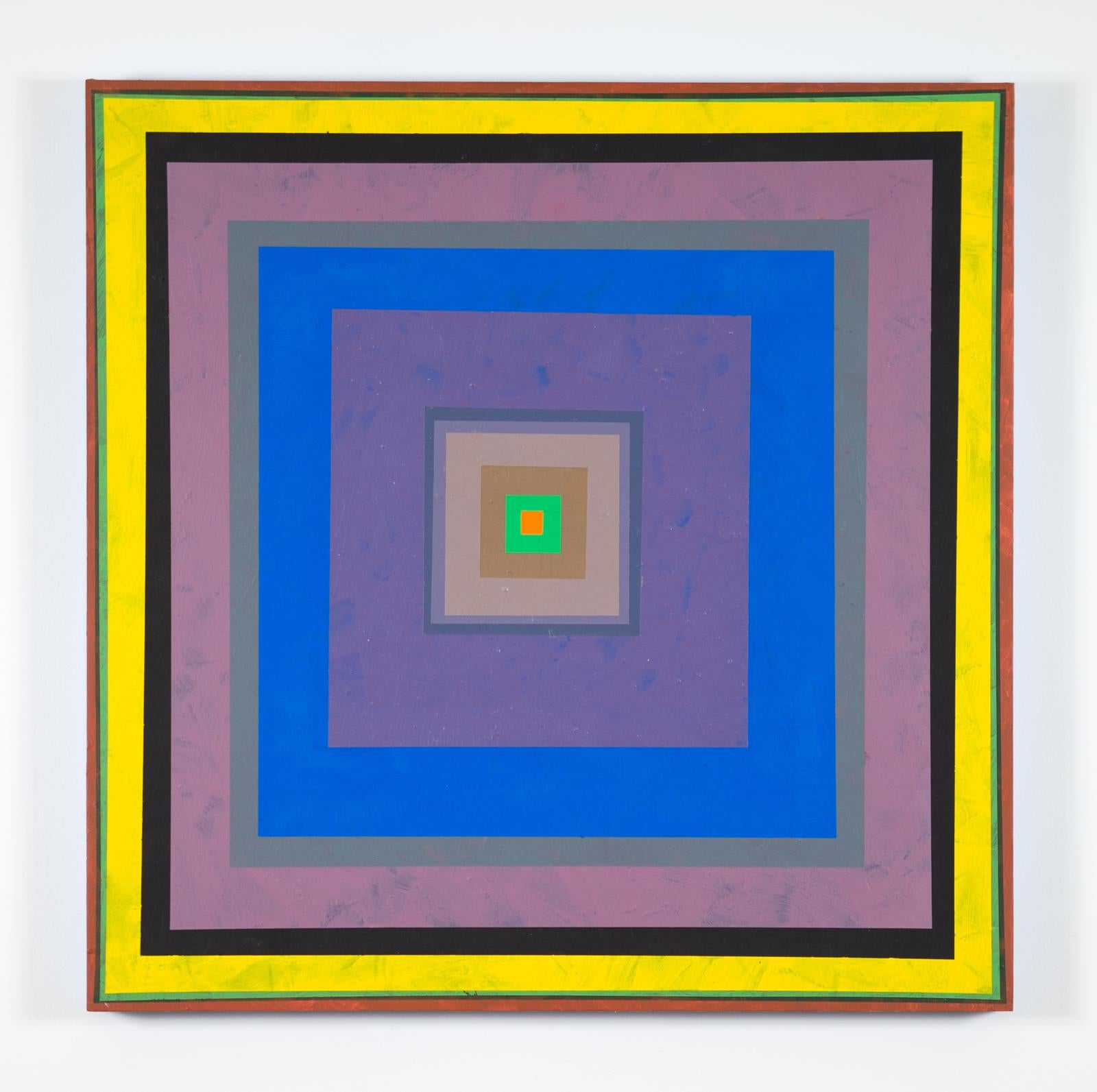 Gary Lang, CONCENTRICSQUAREONE, acrylic painting on panel, geometric abstraction