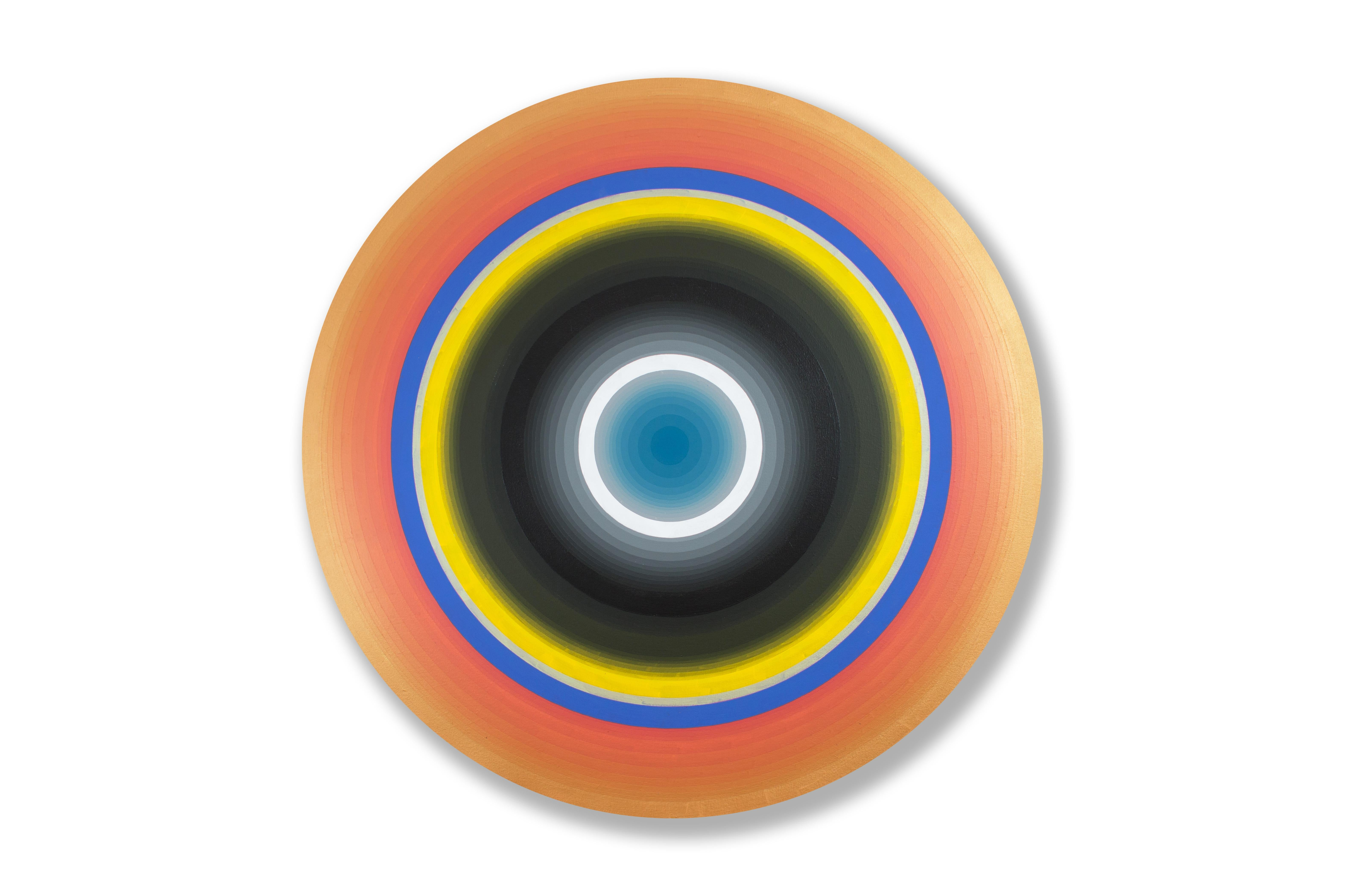 Gary Lang, REDRISINGTEN, 2016, acrylic on canvas, geometric abstraction