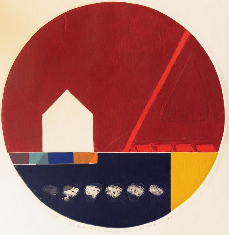 Gary Lee Shaffer Abstract Print - In Between The Houses III