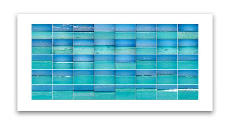 Gary Mankus Abstract Print - Blue Horizons