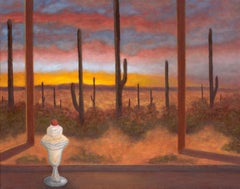 Oil on Canvas Painting -- Desert Dessert