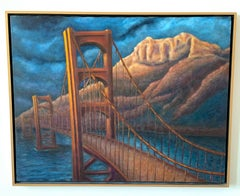 Oil on Canvas Landscape Painting -- Dreambridge