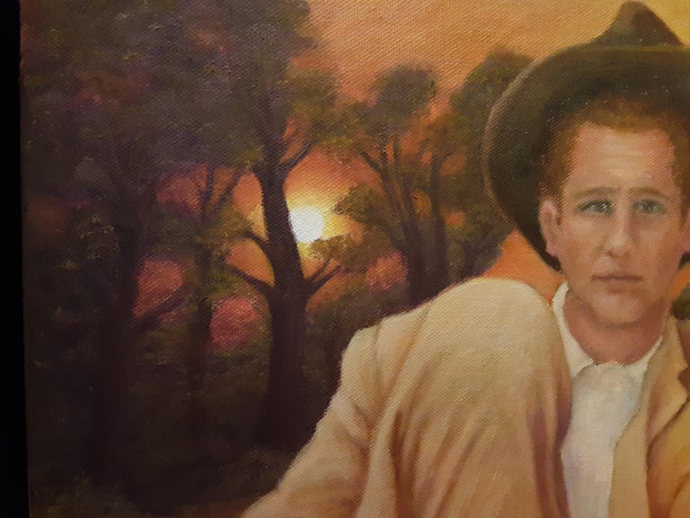 Oil on Canvas -- At Day's End - Brown Landscape Painting by Gary Masline