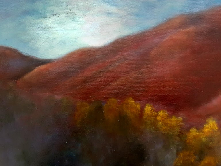 Oil on Canvas Painting-- Red Mountain Dawn For Sale 2