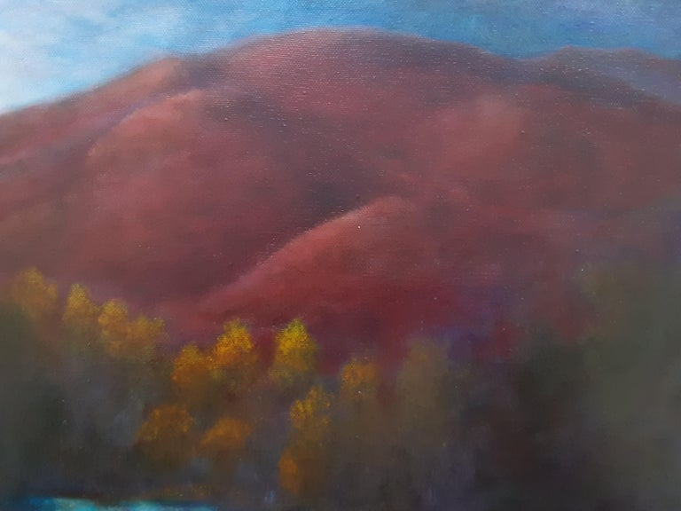 Oil on Canvas Painting-- Red Mountain Dawn For Sale 3