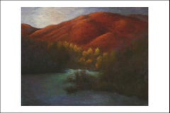 Oil on Canvas Painting-- Red Mountain Dawn