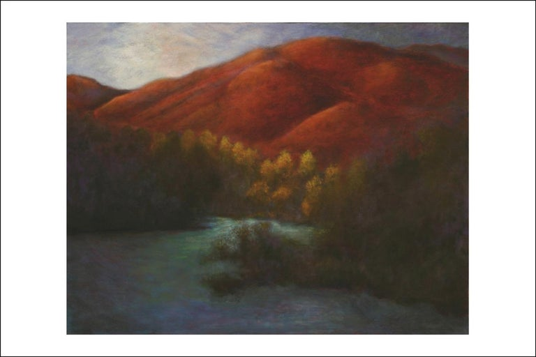 Gary Masline Landscape Painting - Oil on Canvas Painting-- Red Mountain Dawn