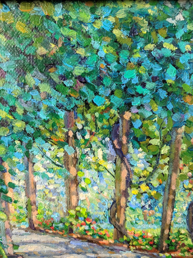 Impressionist Oil Painting on Linen  --  The Arbor - Black Still-Life Painting by Gary Shankman