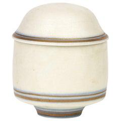 Gary Wornell Studio Pottery Matt Glazed Lidded Pot, Dated 1984