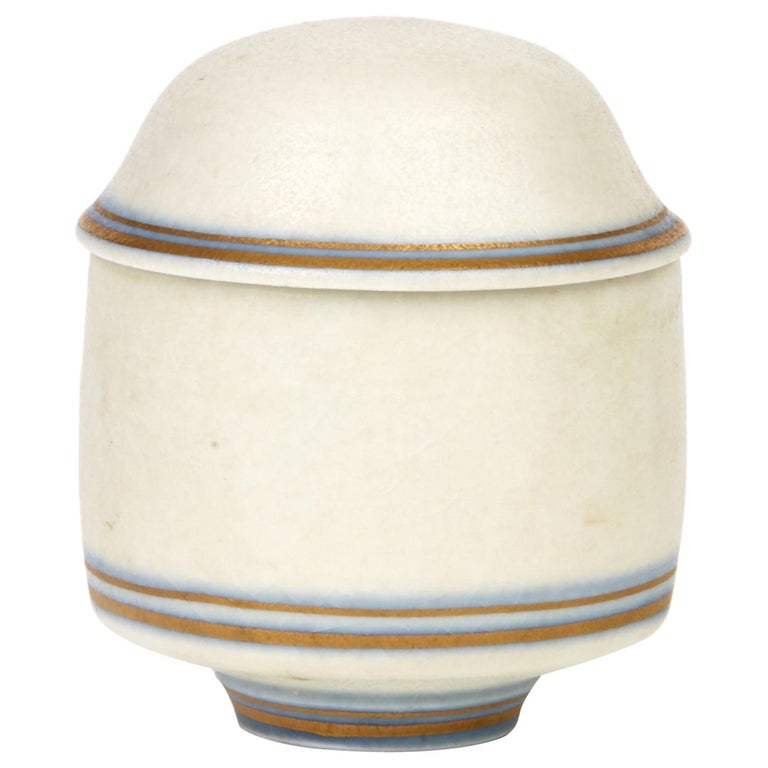 Gary Wornell Studio Pottery Matt Glazed Lidded Pot, Dated 1984 For Sale