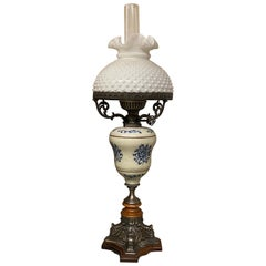 Gas Lamp Napoleon III Style Blue and White
