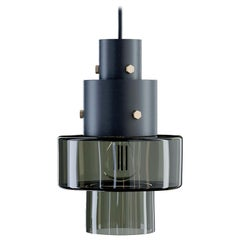 Gask Suspension Lamp in Black with Army Green Diffuser by Diesel Living